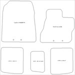 Toyota IQ Manual Car Mats